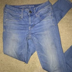 Super stretch american eagle jeans